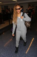 MEAGAN GOOD at LAX Airport in Los Angeles 01/18/2017