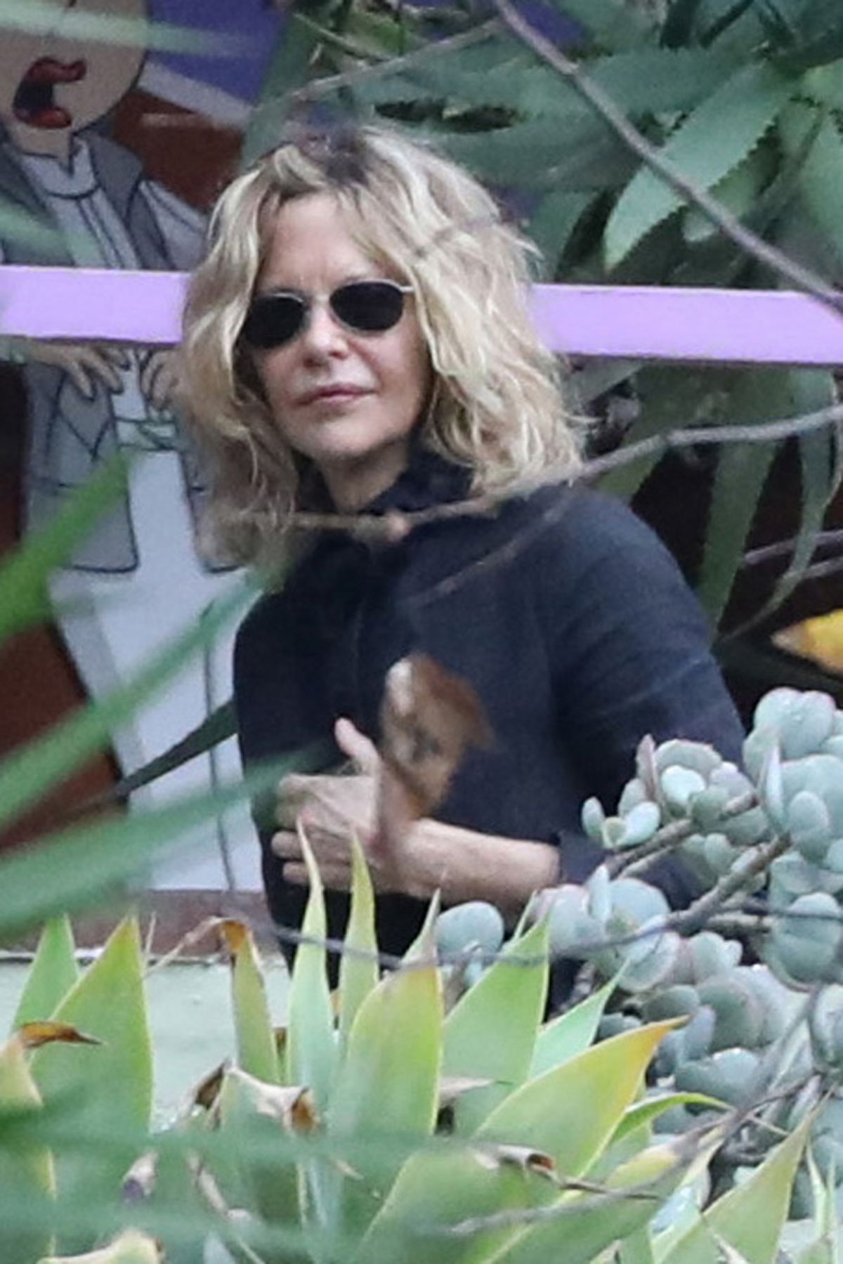 MEG RYAN at Memorial Service of Debbie Reynolds and Carrie Fisher in Los Angeles 01/05/2017