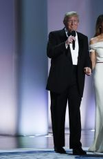 MELANIA and Donald TRUMP at Inauguration Ball at National Building Museum in Washington 01/20/2017