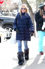 MELANIE GRIFFITH Out for Shopping in Aspen 12/30/2016