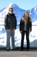 MICHELLE HUNZIKER on Holiday in Pontresina 01/01/2017