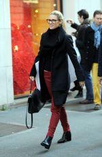 MICHELLE HUNZIKER Out Shopping in Milan 12/28/2016