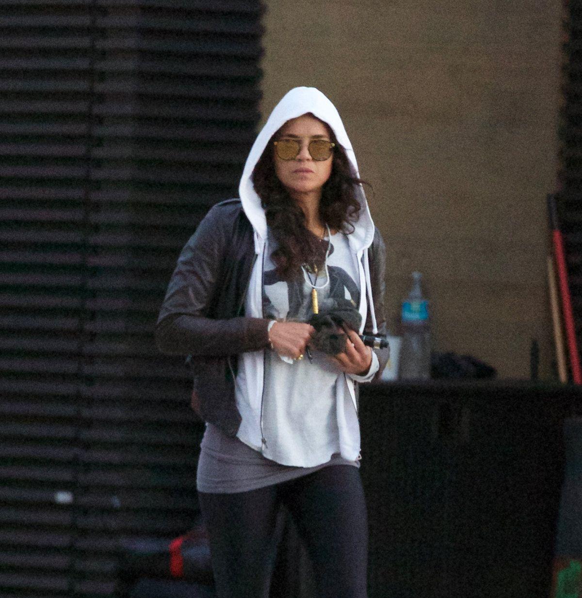MICHELLE RODRUGEZ Leaves Nobu Restaurant in Malibu 01/13/2017