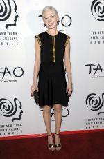 MICHELLE WILLIAMS at New York Film Critics Circle Awards in New York 01/03/2017
