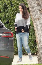 MILA KUNIS Out and About in Studio City 01/04/2017