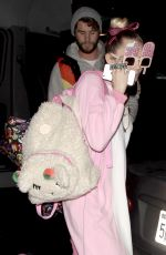 MILEY CYRUS Night Out in Los Angeles 01/12/2017