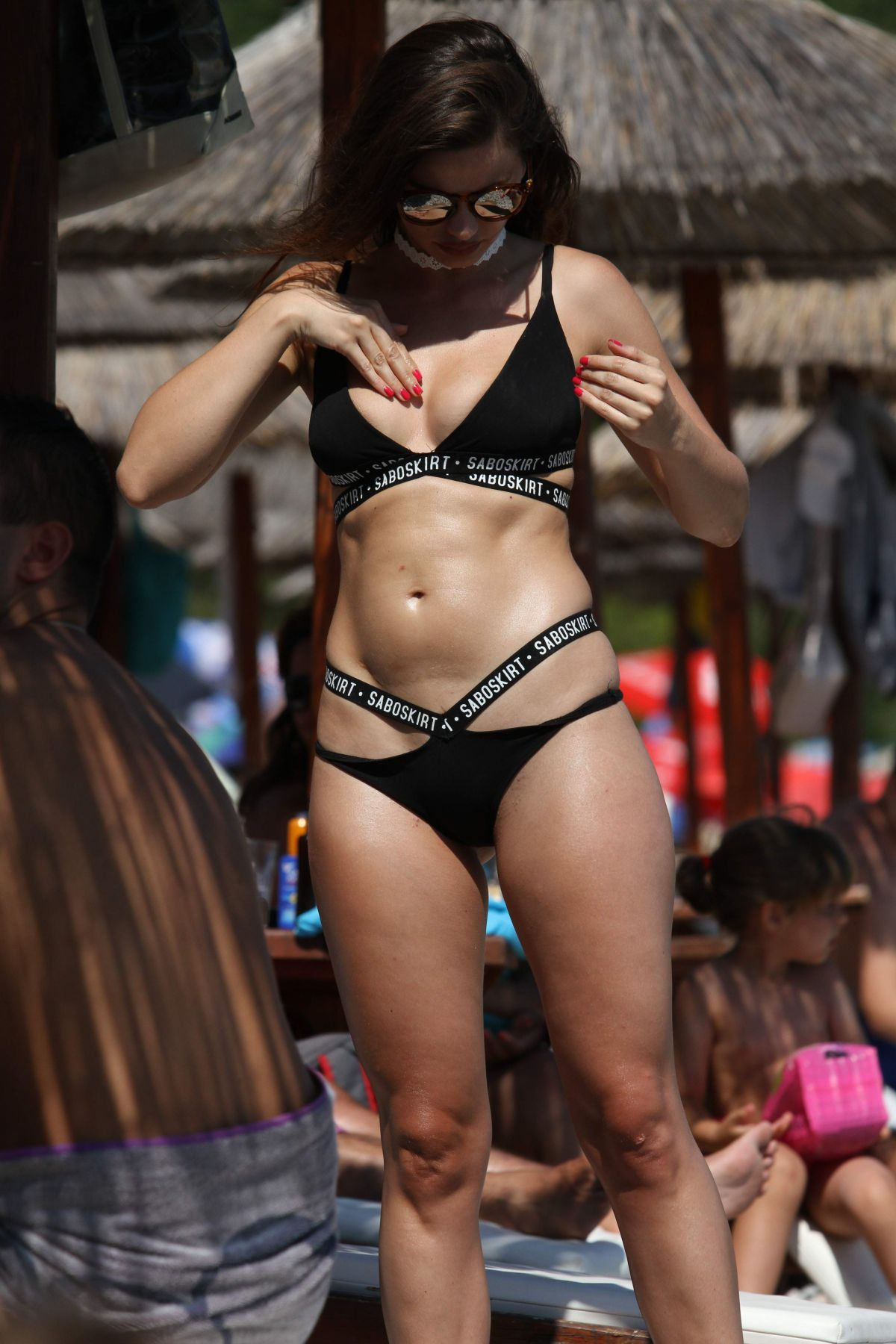 MILICA PAVLOVIC in Bikini on the Beach in Montenegro 01/22/2017