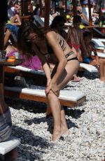 MILICA PAVLOVIC in Bikini on the Beach in Montenegro 01/22/2017