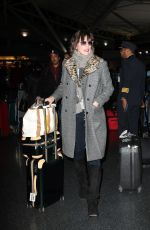 MILLA JOVOVICH at JFK Airport in New York 01/25/2017