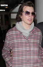 MILLA JOVOVICH at Los Angeles International Airport 01/20/2017