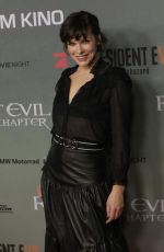 MILLA JOVOVICH at Resident Evil: The Final Chapter Premiere in Berlin 01/19/2017