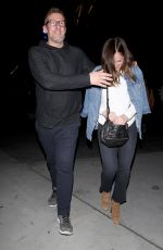 MINKA KELLY Night Out in West Hollywood 01/15/2017