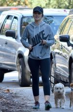MINKA KELLY Walks Her Dog Out in Los Angeles 01/01/2017