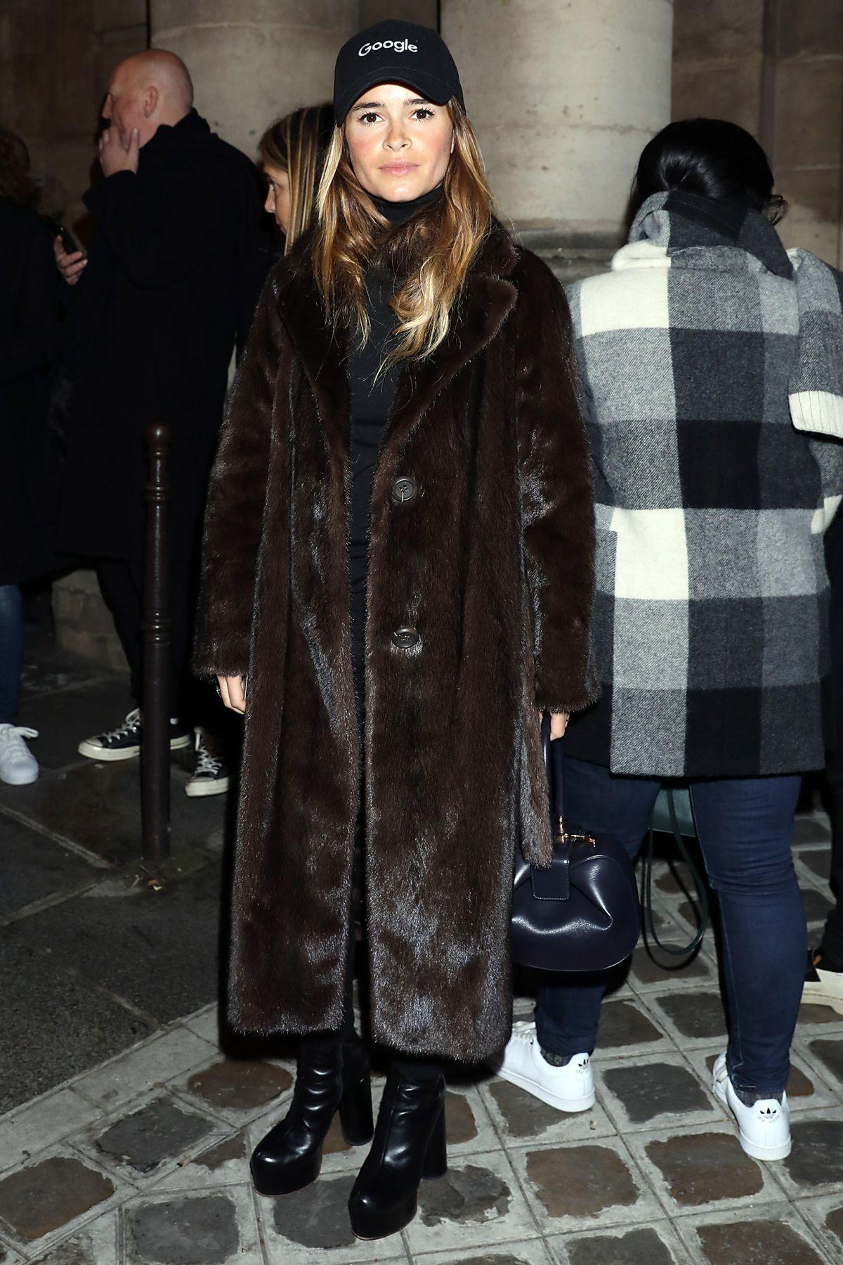 MIROSLAVA DUMA Leaves Giambattista Valli Fashion Show in Paris 01/23/2017