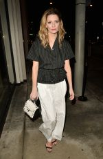 MISCHA BARTON at Catch LA in West Hollywood 01/12/2017