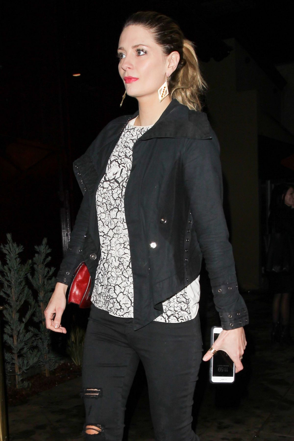 MISCHA BARTON at Peppermint Club in West Hollywod 01/11 ...