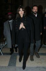 MONICA BELLUCCI Leaves Alexandre Vauthier Fashion Show in Paris 01/24/2017