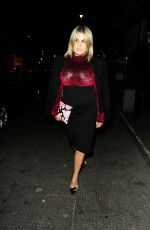 NADIA ESSEX Out for Dinner at Belgravia in London 01/26/2017