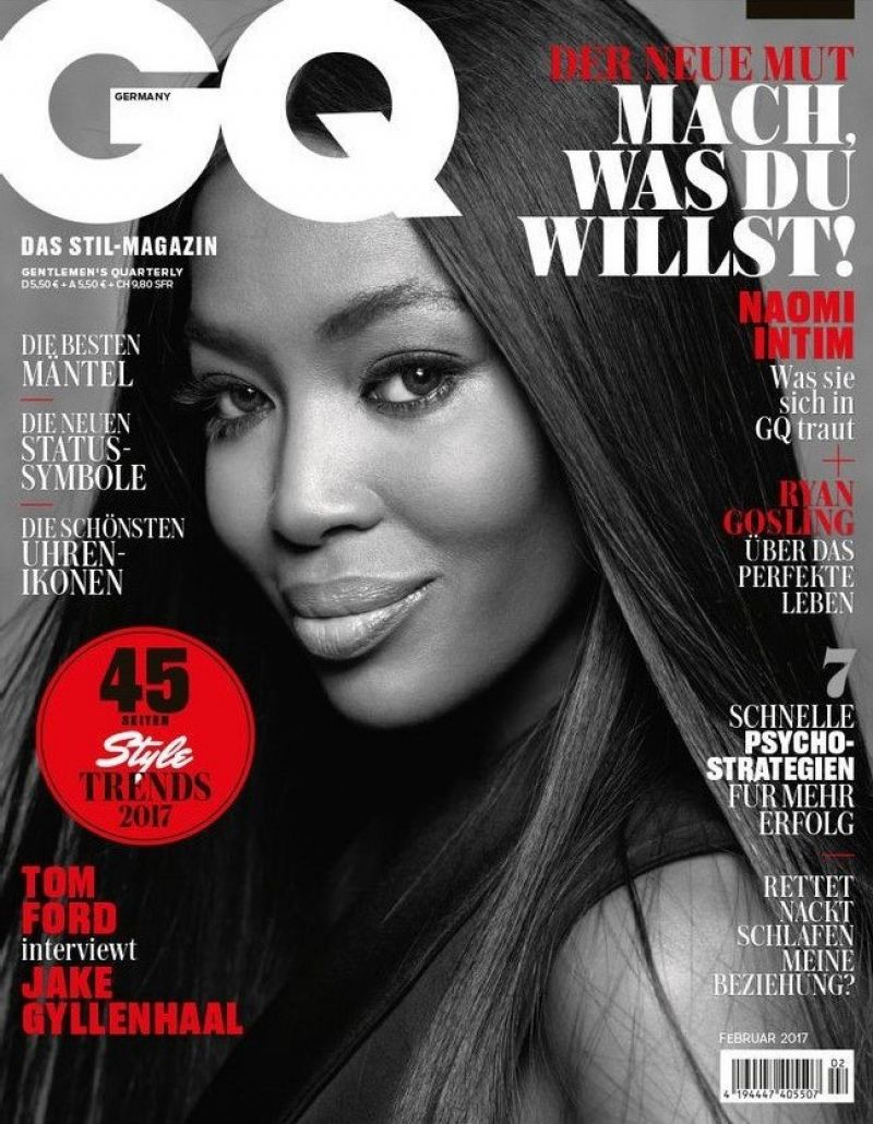 NAOMI CAMPBELL in GQ Magazine, Germany February 2017 Issue