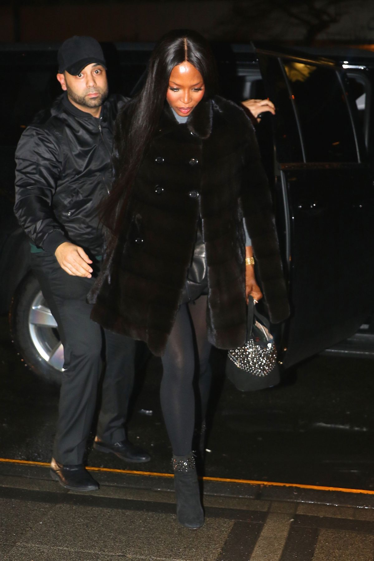 NAOMI CAMPBELL Night Out in New York 01/17/2017