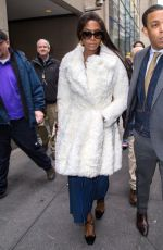 NAOMI CAMPBELL Out and About in New York 01/04/2017