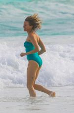 NAOMI WATTS in Swimsuit at a Beach in Cancun 01/01/2017