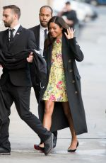 NAOMIE HARRIS Arrives at Jimmy Kimmel Live in Hollywood 01/10/2017