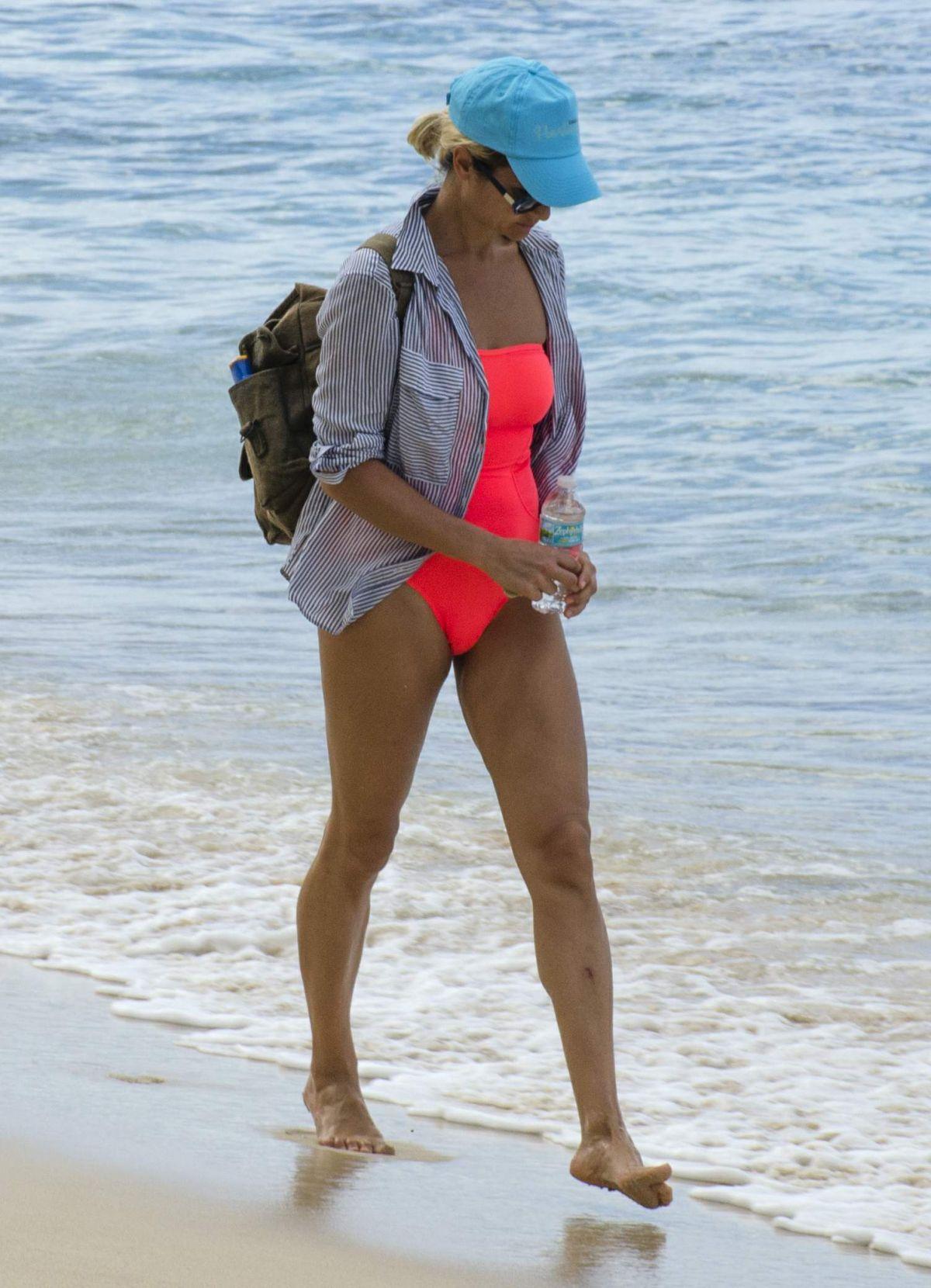 NATASHA SHISHMANIAN on the Beach in Barbados 01/01/2017
