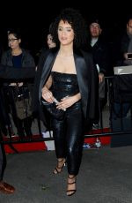 NATHALIE EMMANUEL at Chateau Marmont in West Hollywood 01/28/2017