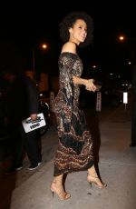 NATHALIE EMMEANUEL at Catch LA in West Hollywood 01/29/2017