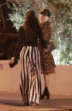 NAYA RIVERA Out for Dinner in West Hollywood 01/12/2017