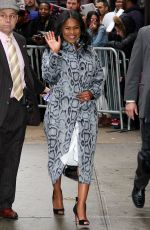 NIA LONG Arrives at Good Morning America in New York 01/12/2017