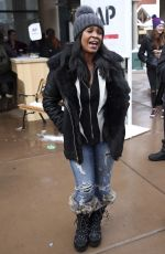 NIA LONG Out in Park City 01/21/2017