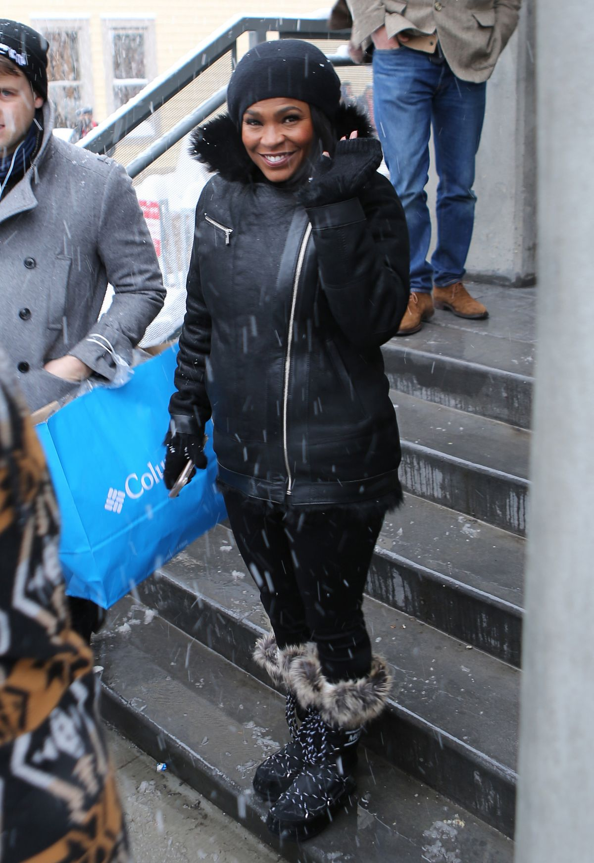 NIA LONG Out in Park City 01/22/2017
