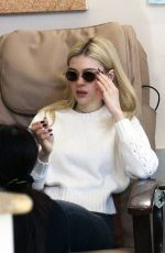 NICOLA PELTZ at a Nail Salon on Rodeo Drive in Beverly Hills 01/16/2017