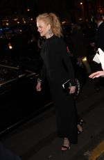 NICOLE KIDMAN Night Out in Paris 01/24/2017