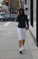 NICOLE MURPHY in Leggings Out in Beverly Hills 01/09/2017