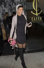 NICOLE MURPHY Leaves Catch LA in West Hollywood 01/09/2017