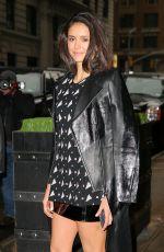 NINA DOBREV Leaves Her Hotel in New York 01/17/2017