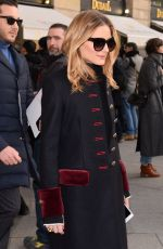 OLIVIA PALERMO Arrives at Schiapparelli Fashion Show in Paris 01/23/2017