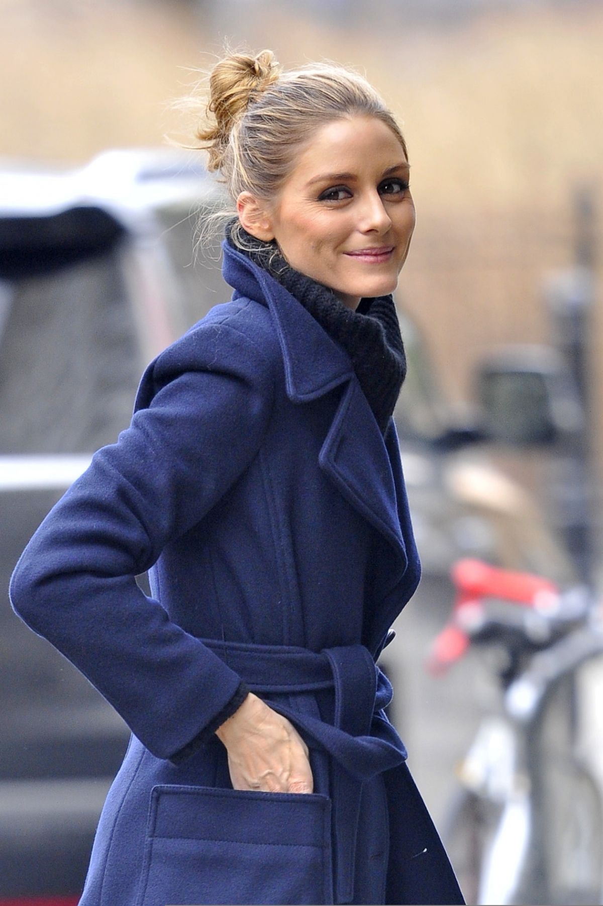 OLIVIA PALERMO Out and About in New York 01/11/2017