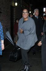 OPRAH WINFREY Arrives at Late Show with Stephen Colbert in New York 01/03/2017