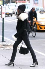 PADMA LAKSHMI Out and About in New York 01/18/2017