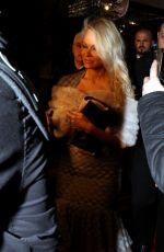 PAMELA ANDERSON Arrives at Lambertz Party in Cologne 01/30/2017