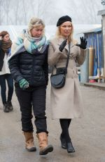 PAMELA ANDERSON at a Refugee Camp in Calais 01/25/2017