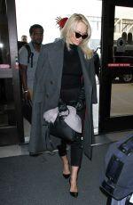 PAMELA ANDERSON at Los Angeles International Airport 01/18/2017