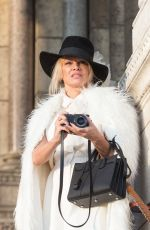 PAMELA ANDERSON Out and Abut in Paris 01/26/2017