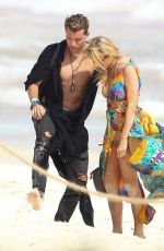 PARIS HILTON at a Beach in Tulum 01/10/2017
