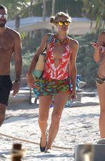 PARIS HILTON in Swimsuit at a Beach in Cancun 01/09/2017