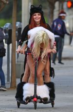 PHOEBE PRICE and ANGELIQUE FRENCHY MORGAN on the Set of